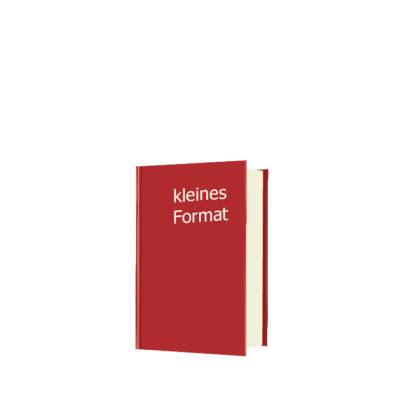 Hardcover-Buch kleines Format DIN A6