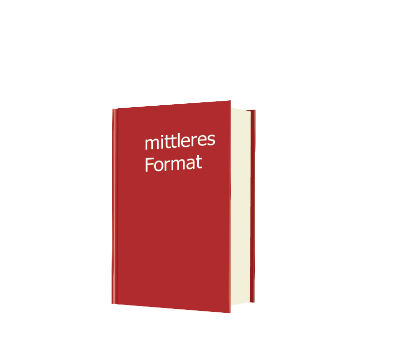 Hardcover-Buch mittleres Format DIN A5