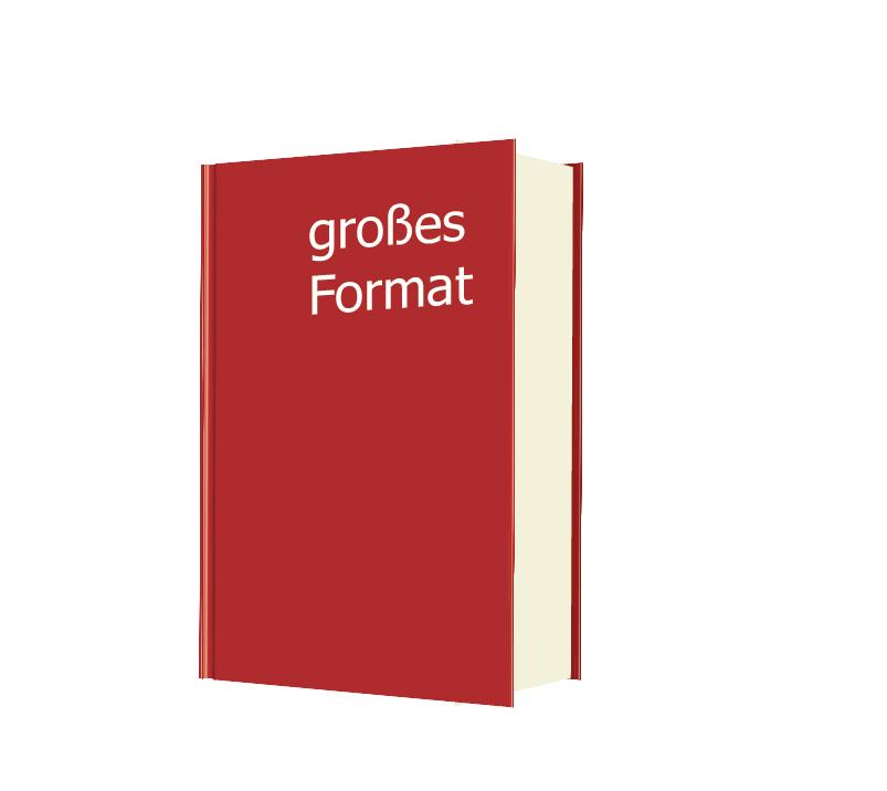 Ein Buch Festeinband/Hardcover im großen Format ist ideal für exklusive Werke