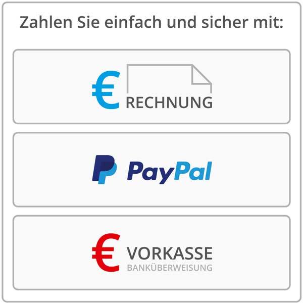 Zahlungsmöglichkeiten beim Buchdruck